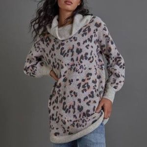 Anthropologie Emmy Cowl Neck Tunic Sweater